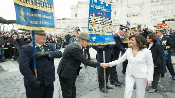 3 - Casellati e Conte depongono corona di fiori all'Altare della Patria per anniversario Unità d'Italia