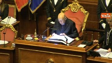9 - Napolitano apre la prima seduta del Senato