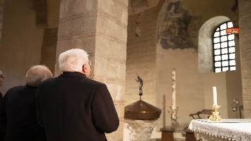 2 - Mattarella a Benevento visita il Museo del Sannio e la Chiesa di Santa Sofia