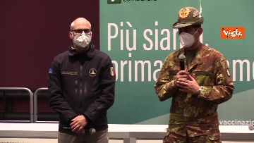 """5 - Figliuolo in Lombardia: """"Ho visto una sinergia tra le forze migliori del Paese"""""""