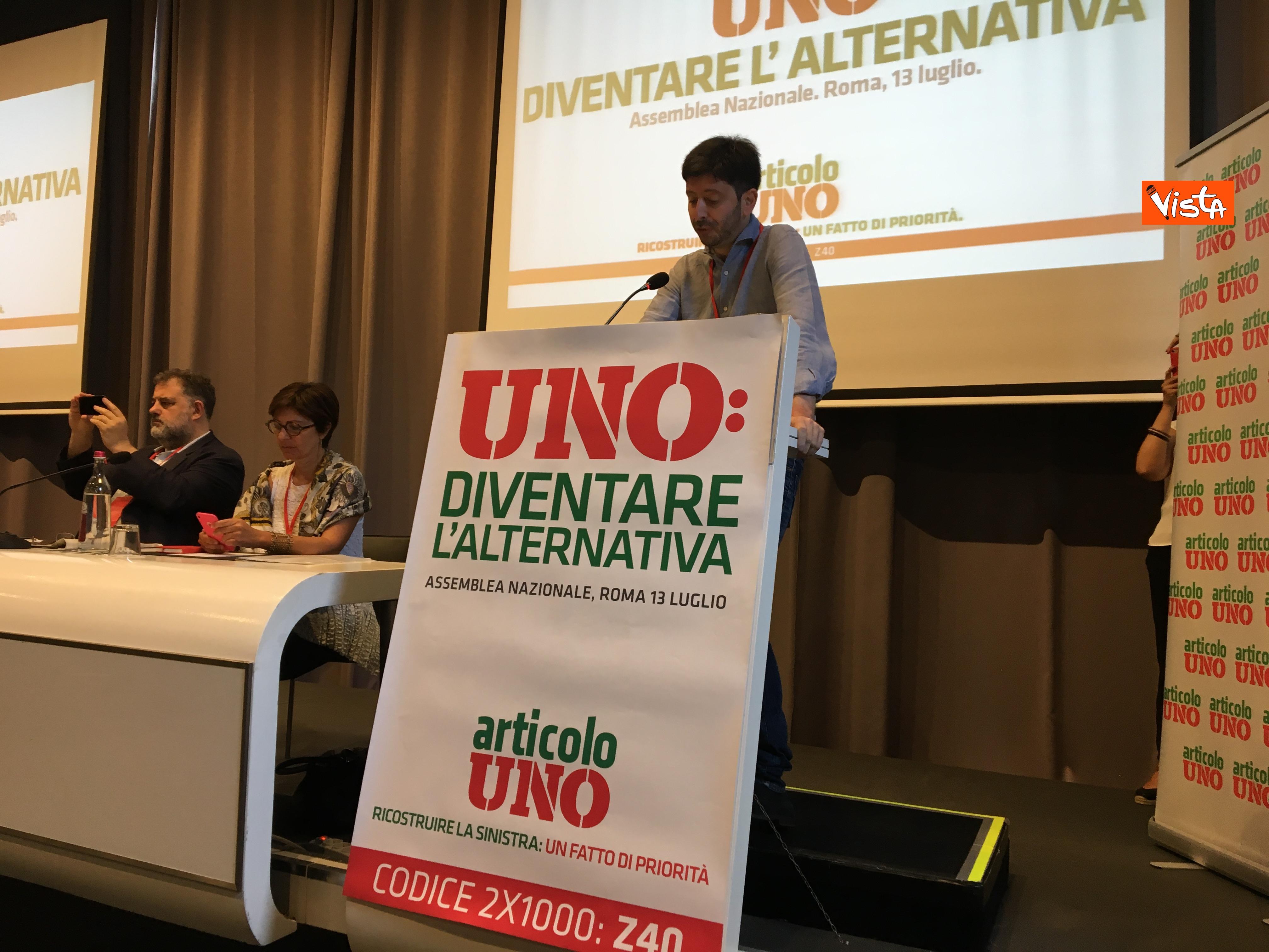 13-07-19 Articolo Uno l Assemblea nazionale a Roma immagini_L'intervento di Roberto Speranza 15