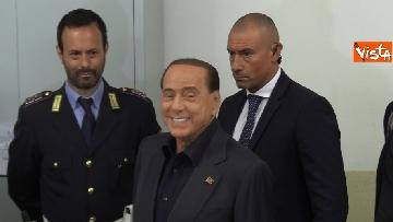 5 - Europee, il voto del presidente di Forza Italia Silvio Berlusconi