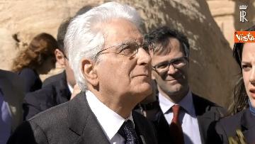 1 - Il Presidente Mattarella visita il Sito Archeologico di Petra