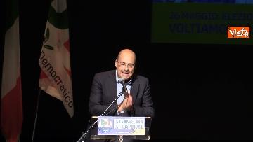 4 - Europee, Zingaretti lancia la campagna elettorale a Milano