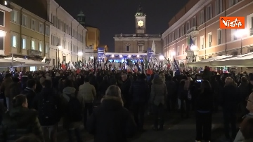 4 - Salvini, Meloni e Berlusconi chiudono la campagna elettorale in Emilia-Romagna a Ravenna, le immagini