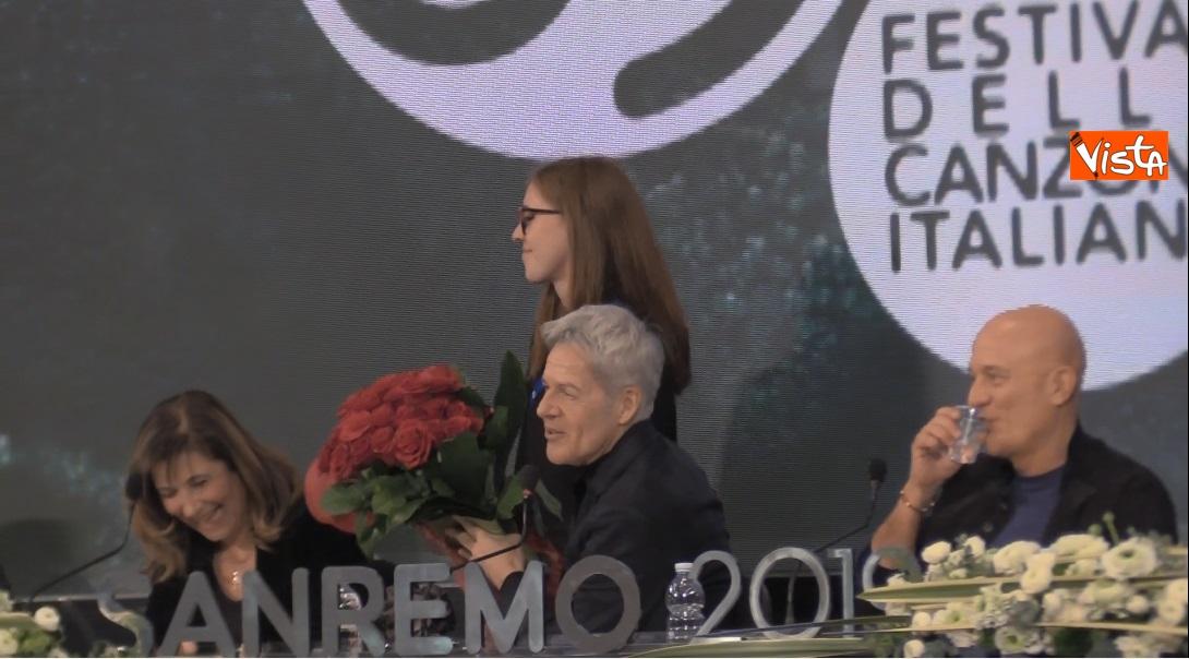 Rose rosse per Claudio Baglioni