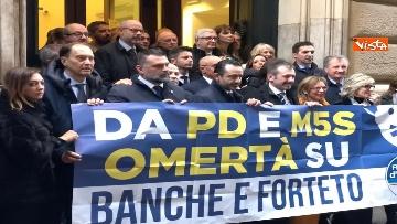 7 - Protesta FdI a Montecitorio sul mancato insediamento commissioni d'inchiesta su banche e Forteto