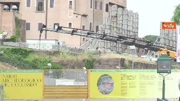 2 - Colosseo deserto, continuano i lavori della metro C