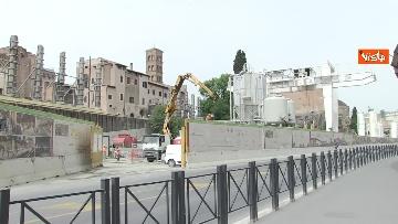8 - Colosseo deserto, continuano i lavori della metro C