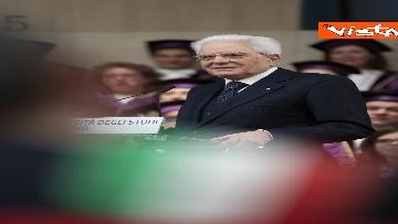 17 - Mattarella all'inaugurazione dell'anno accademico Università di Teramo, le immagini