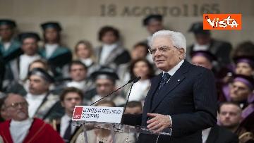 15 - Mattarella all'inaugurazione dell'anno accademico Università di Teramo, le immagini