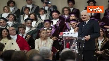 16 - Mattarella all'inaugurazione dell'anno accademico Università di Teramo, le immagini