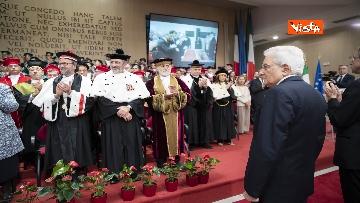 7 - Mattarella all'inaugurazione dell'anno accademico Università di Teramo, le immagini