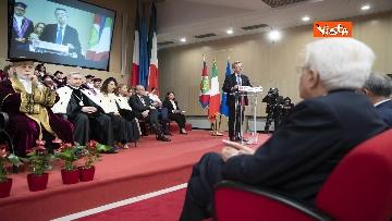 8 - Mattarella all'inaugurazione dell'anno accademico Università di Teramo, le immagini