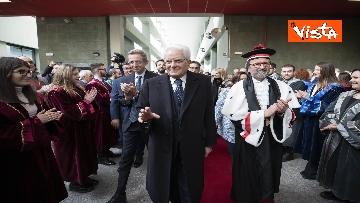 3 - Mattarella all'inaugurazione dell'anno accademico Università di Teramo, le immagini