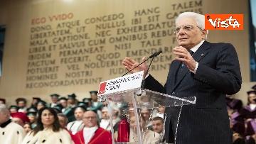 18 - Mattarella all'inaugurazione dell'anno accademico Università di Teramo, le immagini