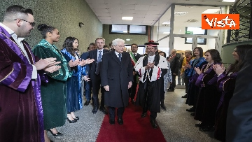 2 - Mattarella all'inaugurazione dell'anno accademico Università di Teramo, le immagini