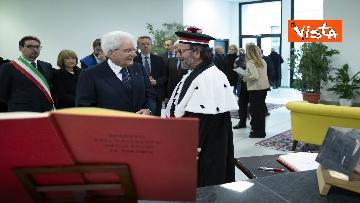 19 - Mattarella all'inaugurazione dell'anno accademico Università di Teramo, le immagini