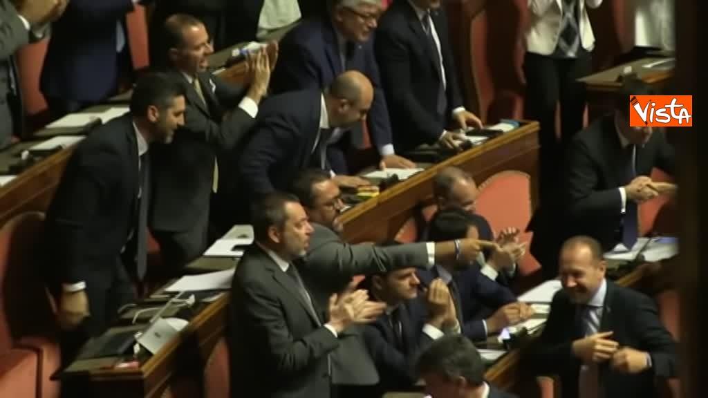 11-09-19 Tutte le bagarre al Senato il giorno della fiducia al Governo Conte 02_Lehisti urlano Elezioni