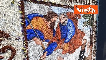 13 - San Pietro e Paolo, tappeto di colori a Via della Conciliazione per la tradizionale infiorata