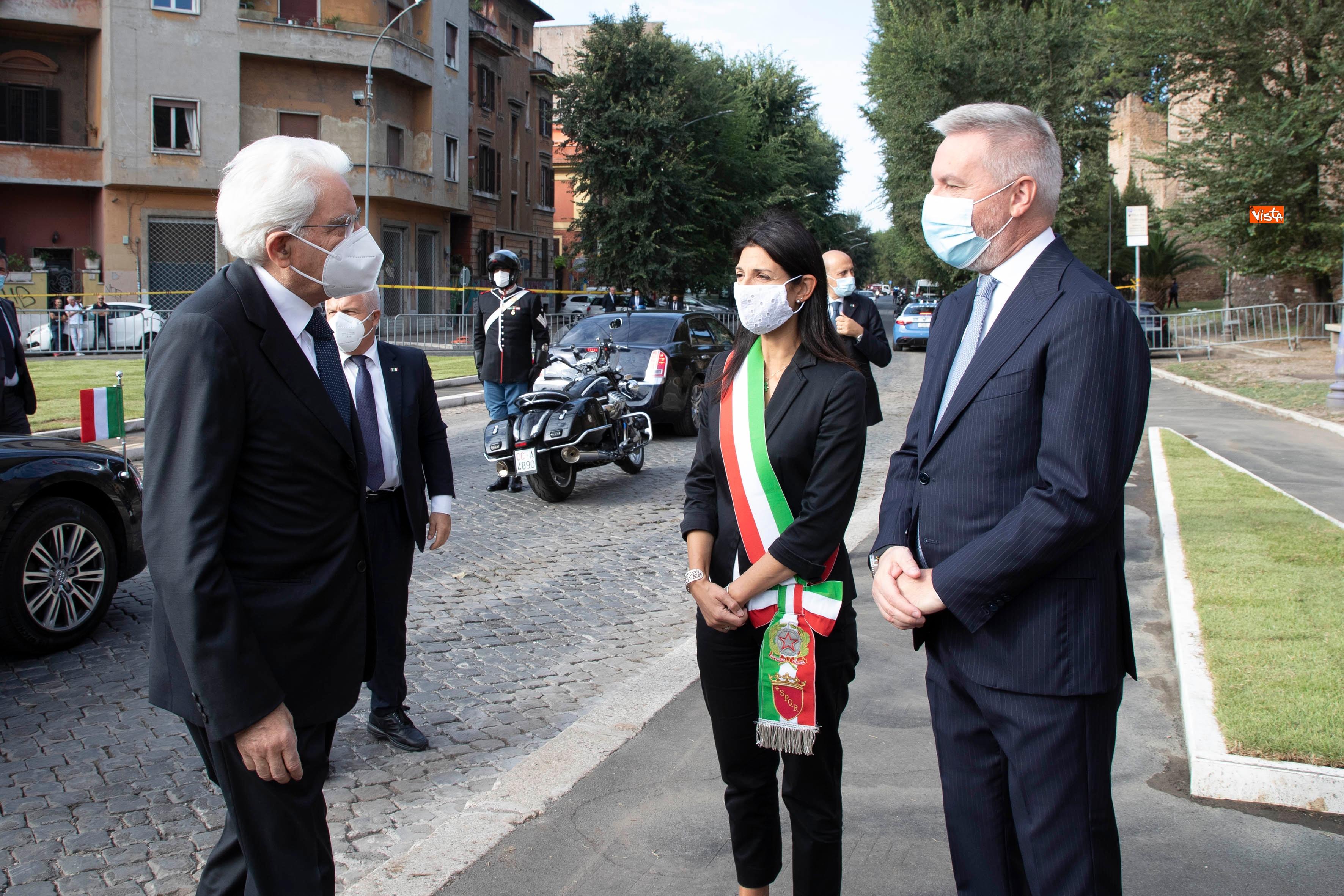 08-09-20 77  anniversario della Difesa di Roma Mattarella a Porta San Paolo e al Parco della Resistenza