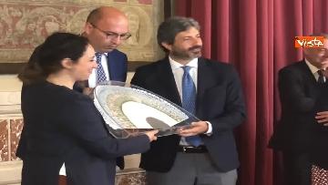 5 - Cerimonia del Ventaglio a Montecitorio, Fico incontra la stampa parlamentare immagini