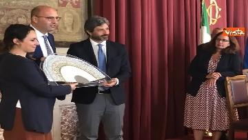 8 - Cerimonia del Ventaglio a Montecitorio, Fico incontra la stampa parlamentare immagini