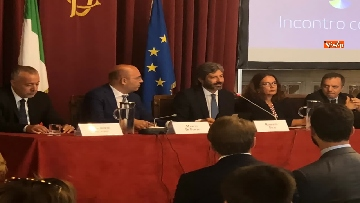 2 - Cerimonia del Ventaglio a Montecitorio, Fico incontra la stampa parlamentare immagini