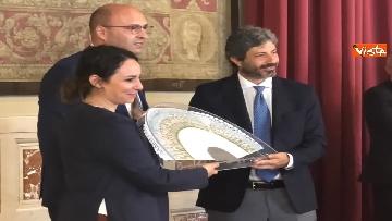 6 - Cerimonia del Ventaglio a Montecitorio, Fico incontra la stampa parlamentare immagini