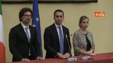 2 - Di Maio, Toninelli e Giulia Grillo al termine delle Consultazioni con Roberto Fico