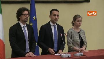 3 - Di Maio, Toninelli e Giulia Grillo al termine delle Consultazioni con Roberto Fico