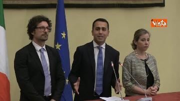 7 - Di Maio, Toninelli e Giulia Grillo al termine delle Consultazioni con Roberto Fico