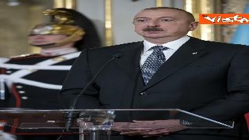 24 - Mattarella riceve il Presidente della Repubblica dell'Azerbaigian Ilham Aliyev, le immagini