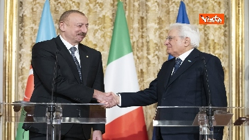 25 - Mattarella riceve il Presidente della Repubblica dell'Azerbaigian Ilham Aliyev, le immagini