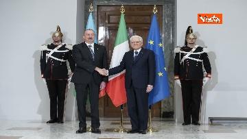 11 - Mattarella riceve il Presidente della Repubblica dell'Azerbaigian Ilham Aliyev, le immagini