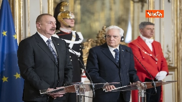 23 - Mattarella riceve il Presidente della Repubblica dell'Azerbaigian Ilham Aliyev, le immagini