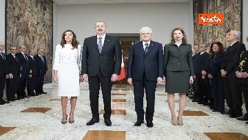 10 - Mattarella riceve il Presidente della Repubblica dell'Azerbaigian Ilham Aliyev, le immagini