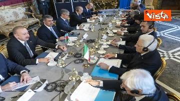 18 - Mattarella riceve il Presidente della Repubblica dell'Azerbaigian Ilham Aliyev, le immagini