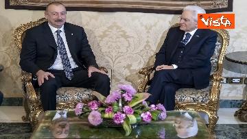 14 - Mattarella riceve il Presidente della Repubblica dell'Azerbaigian Ilham Aliyev, le immagini