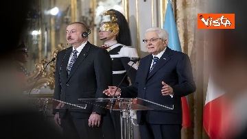 20 - Mattarella riceve il Presidente della Repubblica dell'Azerbaigian Ilham Aliyev, le immagini