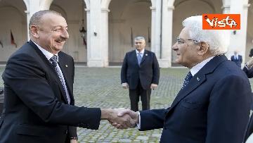 2 - Mattarella riceve il Presidente della Repubblica dell'Azerbaigian Ilham Aliyev, le immagini