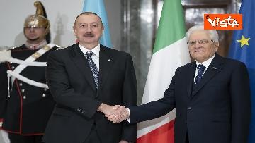 12 - Mattarella riceve il Presidente della Repubblica dell'Azerbaigian Ilham Aliyev, le immagini