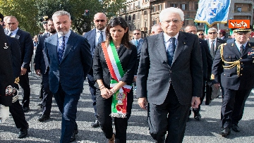 6 - Mattarella depone corona d'alloro a Porta San Paolo per anniversario difesa di Roma 8 settembre