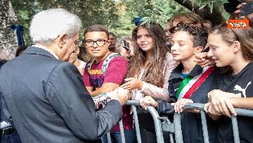 12 - Mattarella depone corona d'alloro a Porta San Paolo per anniversario difesa di Roma 8 settembre