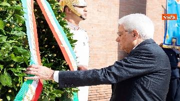 3 - Mattarella depone corona d'alloro a Porta San Paolo per anniversario difesa di Roma 8 settembre
