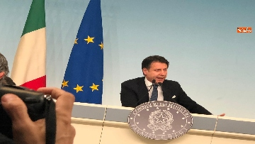 2 - Tav, Conte in conferenza stampa a Palazzo Chigi, immagini