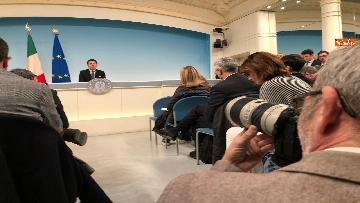 8 - Tav, Conte in conferenza stampa a Palazzo Chigi, immagini