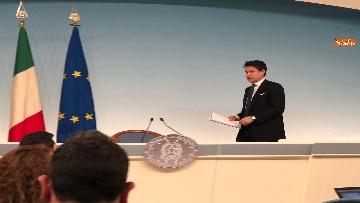 4 - Tav, Conte in conferenza stampa a Palazzo Chigi, immagini