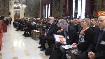 13 - FOTO GALLERY Gentiloni, Toti, Galletti, Montanari a presentazione Rapporto Ambiente di Sistema - Annuario dei dati ambientali dell'Ispra