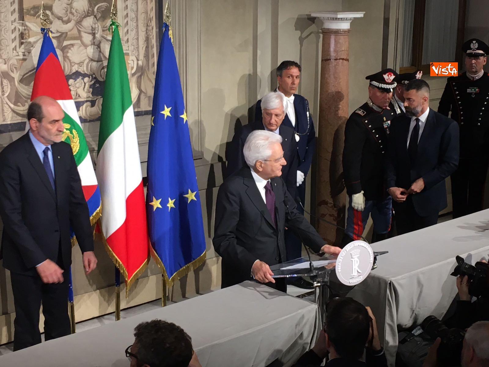 07-05-18 Mattarella il discorso al termine delle consultazioni immagini_13